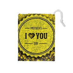 Happy Mother Day Drawstring Pouches (Medium)