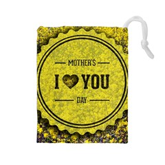 Happy Mother Day Drawstring Pouches (Large)