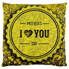 Happy Mother Day Large Flano Cushion Case (Two Sides)