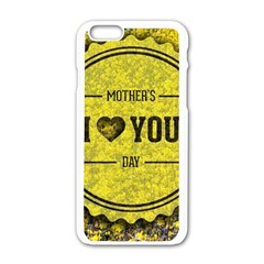 Happy Mother Day Apple iPhone 6/6S White Enamel Case