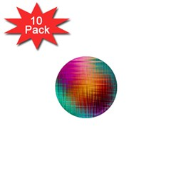 Colourful Weave Background 1  Mini Magnet (10 pack)