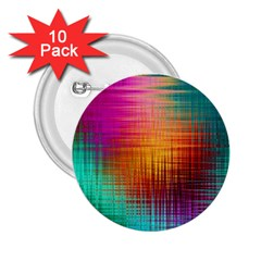 Colourful Weave Background 2 25  Buttons (10 Pack)
