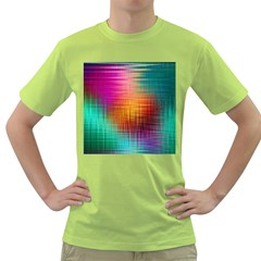 Colourful Weave Background Green T-Shirt