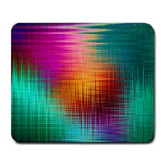 Colourful Weave Background Large Mousepads