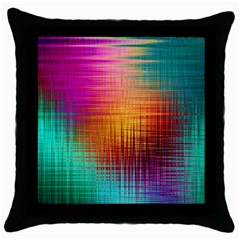 Colourful Weave Background Throw Pillow Case (Black)