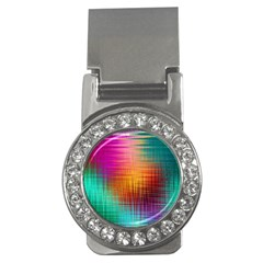Colourful Weave Background Money Clips (cz)