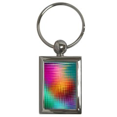 Colourful Weave Background Key Chains (Rectangle)