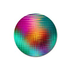 Colourful Weave Background Magnet 3  (Round)
