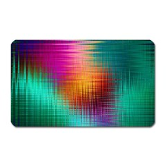 Colourful Weave Background Magnet (Rectangular)