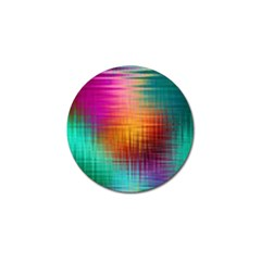 Colourful Weave Background Golf Ball Marker