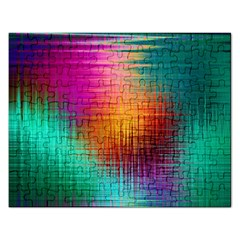 Colourful Weave Background Rectangular Jigsaw Puzzl