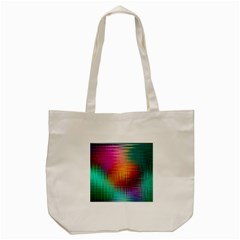 Colourful Weave Background Tote Bag (Cream)