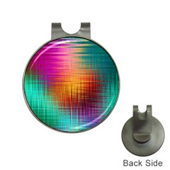 Colourful Weave Background Hat Clips with Golf Markers