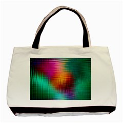 Colourful Weave Background Basic Tote Bag