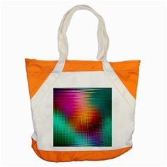 Colourful Weave Background Accent Tote Bag