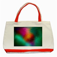 Colourful Weave Background Classic Tote Bag (Red)