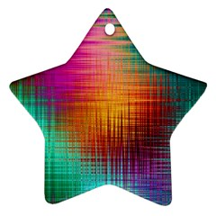 Colourful Weave Background Star Ornament (Two Sides)