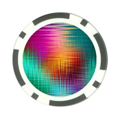 Colourful Weave Background Poker Chip Card Guard