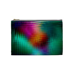Colourful Weave Background Cosmetic Bag (medium)
