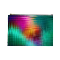 Colourful Weave Background Cosmetic Bag (large)