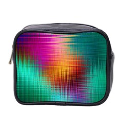Colourful Weave Background Mini Toiletries Bag 2-Side