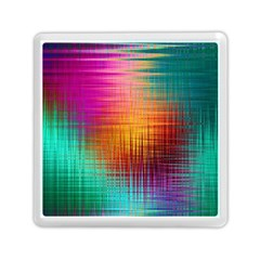 Colourful Weave Background Memory Card Reader (square)