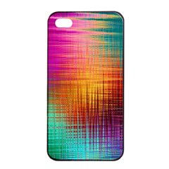 Colourful Weave Background Apple Iphone 4/4s Seamless Case (black)
