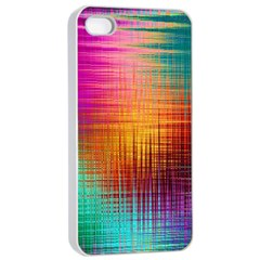 Colourful Weave Background Apple iPhone 4/4s Seamless Case (White)