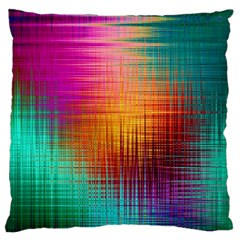 Colourful Weave Background Large Cushion Case (two Sides)