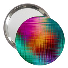 Colourful Weave Background 3  Handbag Mirrors
