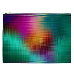 Colourful Weave Background Cosmetic Bag (XXL)