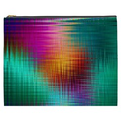 Colourful Weave Background Cosmetic Bag (xxxl)