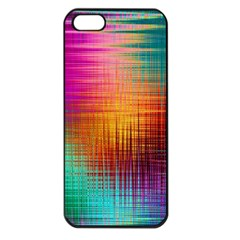 Colourful Weave Background Apple iPhone 5 Seamless Case (Black)