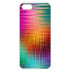 Colourful Weave Background Apple iPhone 5 Seamless Case (White)