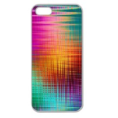 Colourful Weave Background Apple Seamless iPhone 5 Case (Clear)