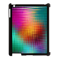 Colourful Weave Background Apple iPad 3/4 Case (Black)