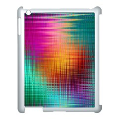 Colourful Weave Background Apple iPad 3/4 Case (White)