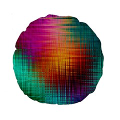 Colourful Weave Background Standard 15  Premium Round Cushions