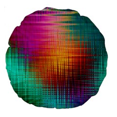 Colourful Weave Background Large 18  Premium Round Cushions
