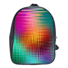 Colourful Weave Background School Bags (XL)