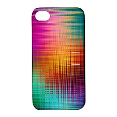 Colourful Weave Background Apple Iphone 4/4s Hardshell Case With Stand