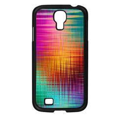 Colourful Weave Background Samsung Galaxy S4 I9500/ I9505 Case (Black)