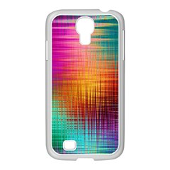 Colourful Weave Background Samsung GALAXY S4 I9500/ I9505 Case (White)