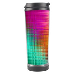 Colourful Weave Background Travel Tumbler
