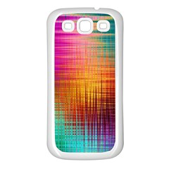 Colourful Weave Background Samsung Galaxy S3 Back Case (white)