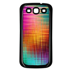 Colourful Weave Background Samsung Galaxy S3 Back Case (Black)