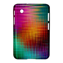 Colourful Weave Background Samsung Galaxy Tab 2 (7 ) P3100 Hardshell Case