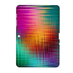 Colourful Weave Background Samsung Galaxy Tab 2 (10.1 ) P5100 Hardshell Case