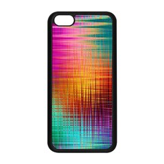 Colourful Weave Background Apple Iphone 5c Seamless Case (black)