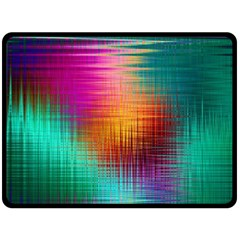 Colourful Weave Background Double Sided Fleece Blanket (Large)